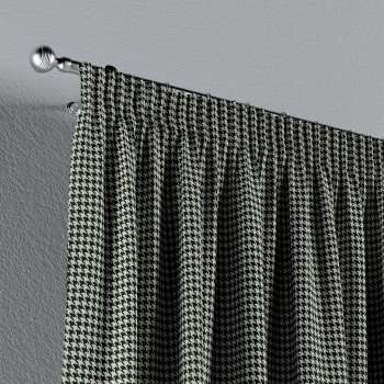 Pencil pleat curtains in collection Black & White, fabric: 142-77