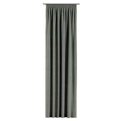 Gardin med rynkebånd 1 stk. fra kolleksjonen Black & White, Stoffets bredde: 142-77