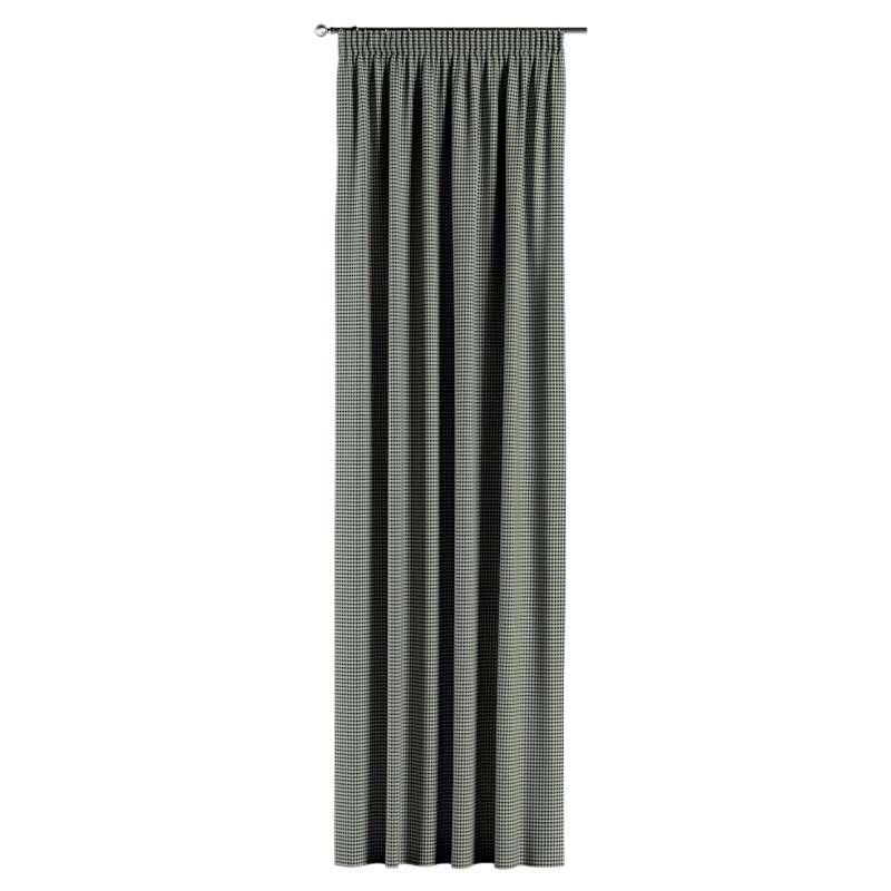 Vorhang mit Kräuselband von der Kollektion Black & White, Stoff: 142-77