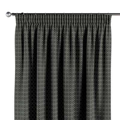 Pencil pleat curtains in collection Black & White, fabric: 142-86