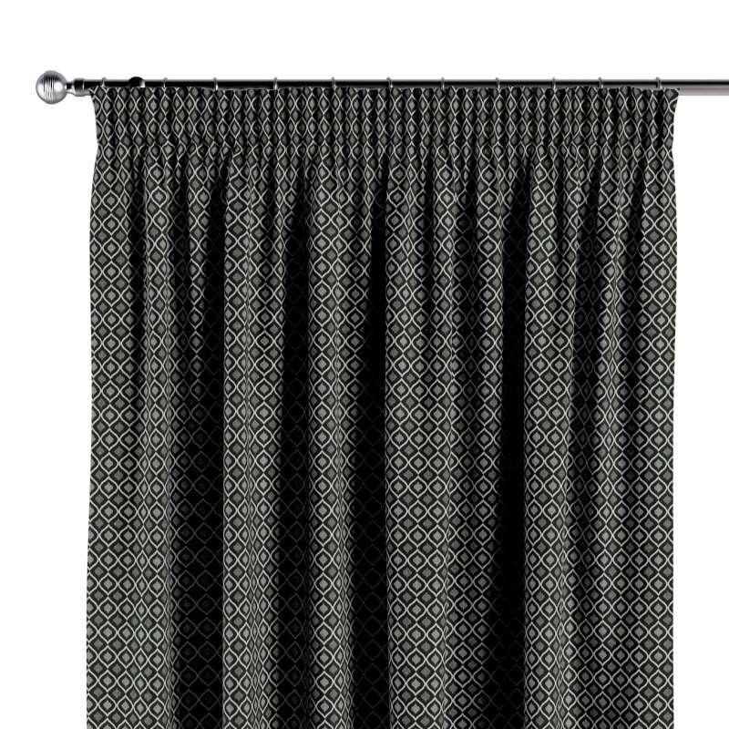 Vorhang mit Kräuselband von der Kollektion Black & White, Stoff: 142-86
