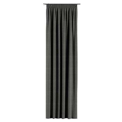 Záves na riasiacej páske V kolekcii Black & White, tkanina: 142-86