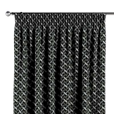 Pencil pleat curtains in collection Black & White, fabric: 142-87