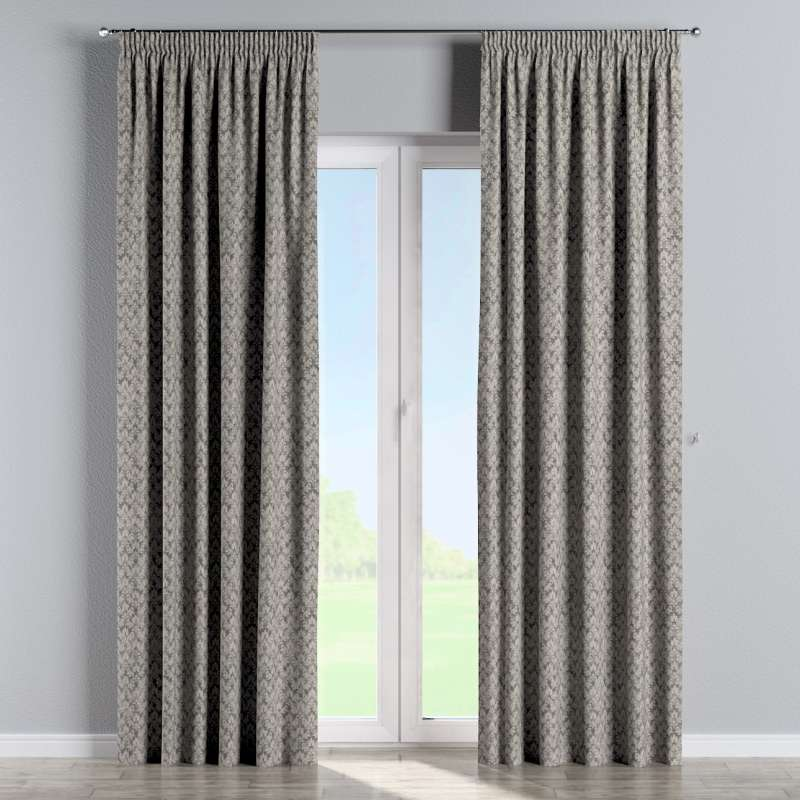 Pencil pleat curtains in collection Retro Glam, fabric: 142-83