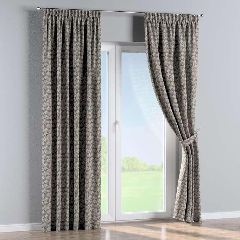 Pencil pleat curtain in collection Retro Glam, fabric: 142-84