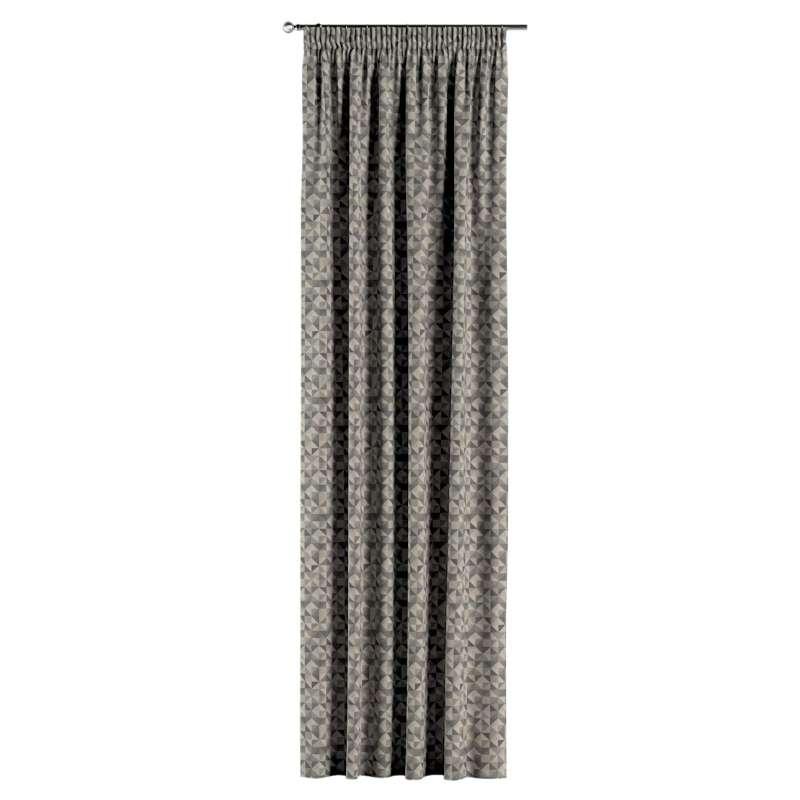 Gardin med rynkband 1 längd i kollektionen Retro Glam, Tyg: 142-84