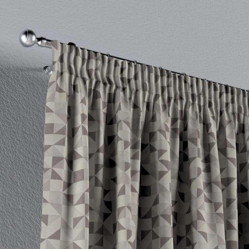 Gardin med rynkband 1 längd i kollektionen Retro Glam, Tyg: 142-85