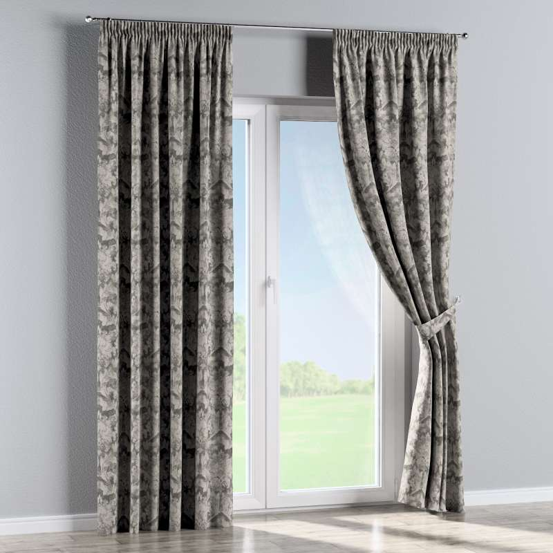 Pencil pleat curtain in collection Retro Glam, fabric: 142-88