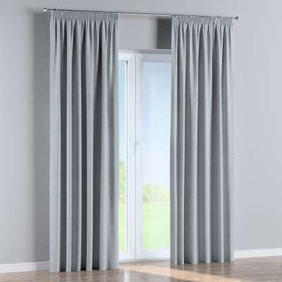 Pencil pleat curtain 142-57 silver grey Collection Venice