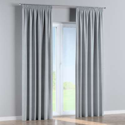 Vorhang mit Kräuselband 142-57 grau-silbern Kollektion Venice