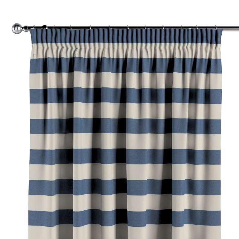 Vorhang mit Kräuselband von der Kollektion Quadro, Stoff: 142-70