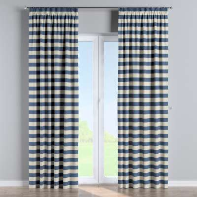 Pencil pleat curtains in collection Quadro, fabric: 142-70