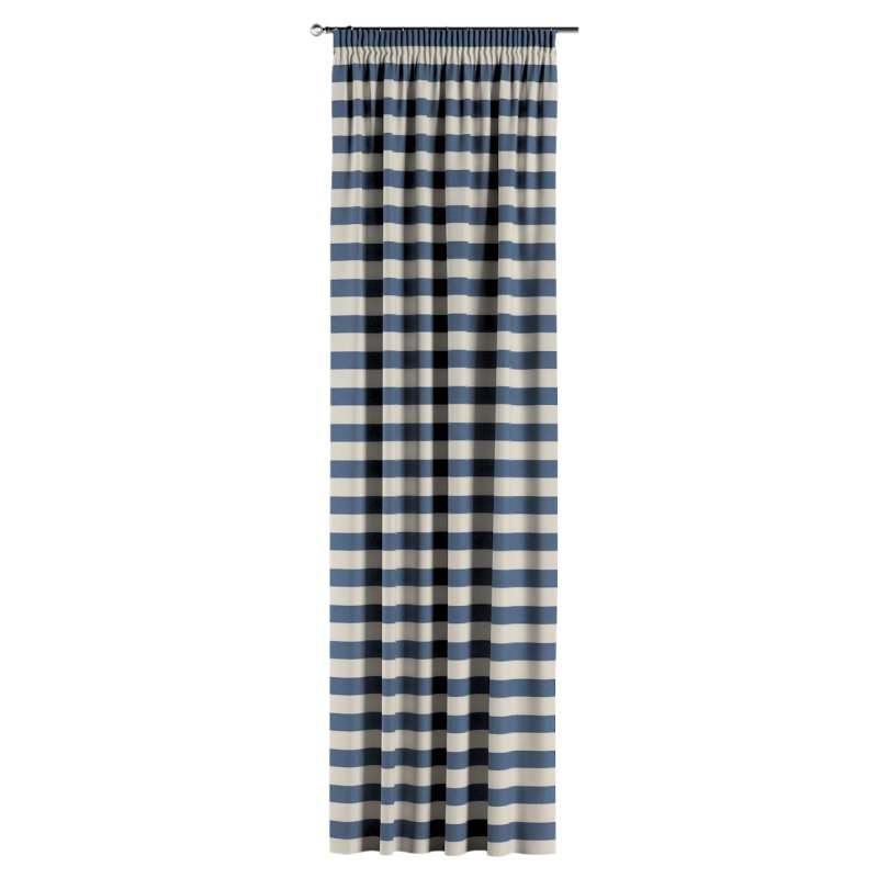 Pencil pleat curtain in collection Quadro, fabric: 142-70