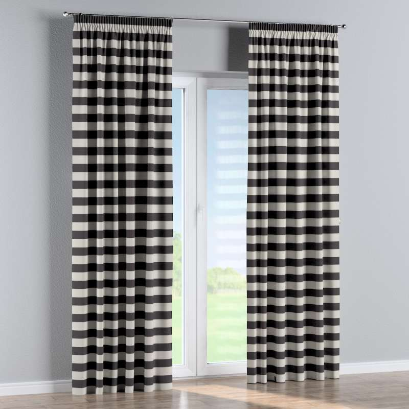 Pencil pleat curtain in collection Quadro, fabric: 142-72
