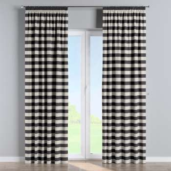 Pencil pleat curtains in collection Quadro, fabric: 142-72