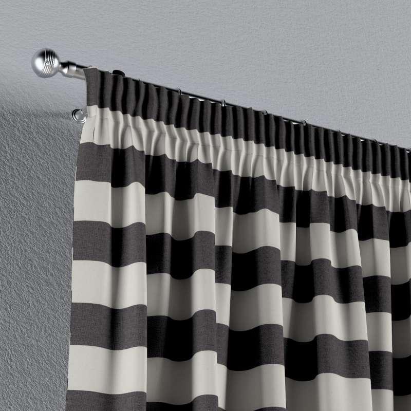 Vorhang mit Kräuselband von der Kollektion Quadro, Stoff: 142-72