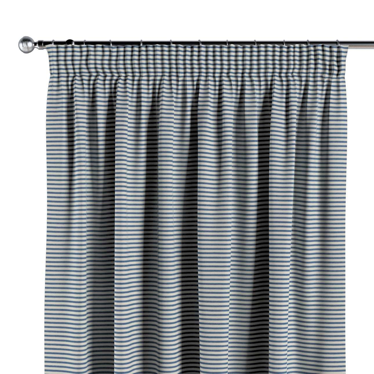 Pencil pleat curtains in collection Quadro, fabric: 142-74