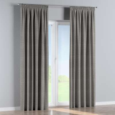 Pencil pleat curtains in collection Quadro, fabric: 142-75