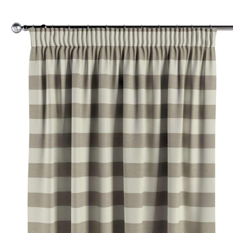 Vorhang mit Kräuselband von der Kollektion Quadro, Stoff: 142-73