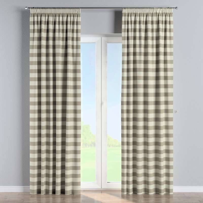 Pencil pleat curtains in collection Quadro, fabric: 142-73