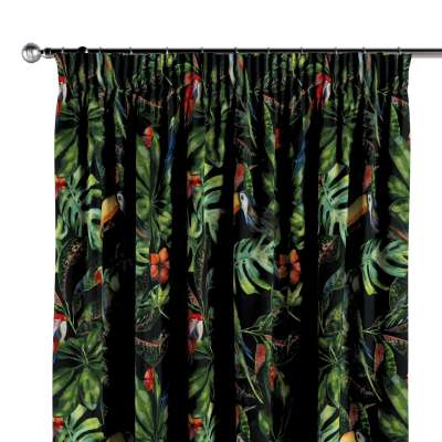 Pencil pleat curtains in collection Velvet, fabric: 704-28