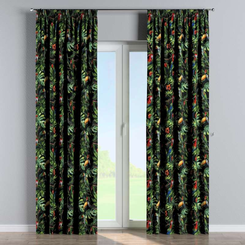 Pencil pleat curtain in collection Velvet, fabric: 704-28