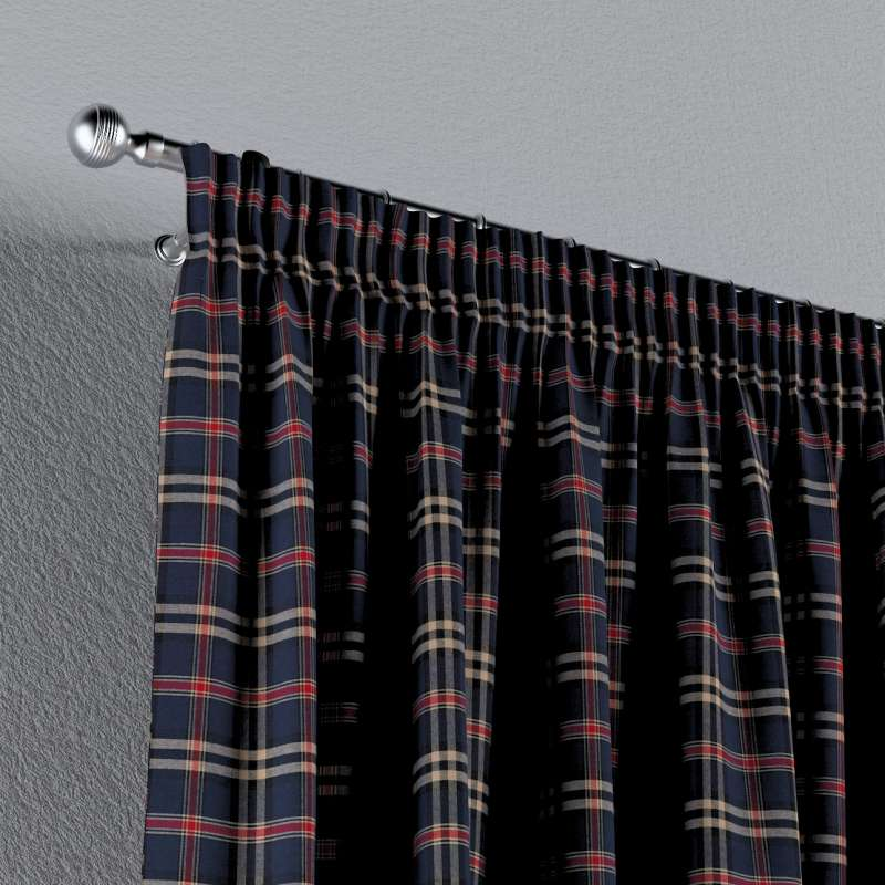Gardin med rynkband 1 längd i kollektionen Bristol, Tyg: 142-68