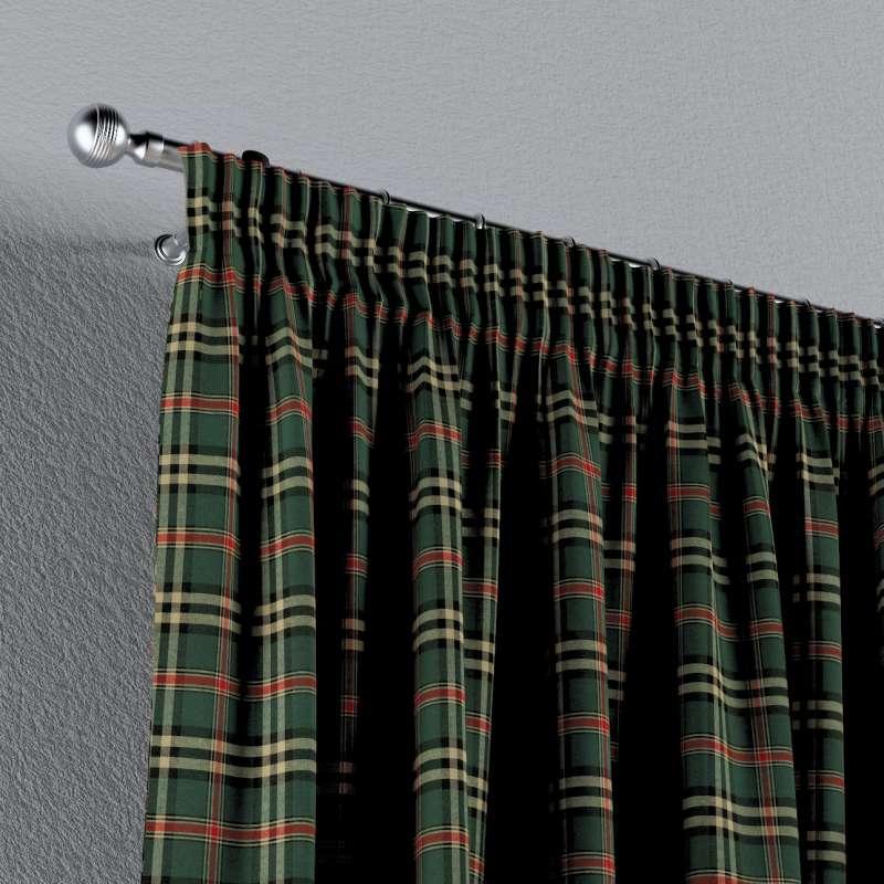 Gardin med rynkband 1 längd i kollektionen Bristol, Tyg: 142-69