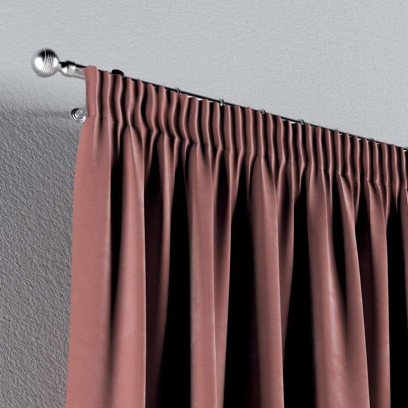 Gardin med rynkband 1 längd i kollektionen Velvet, Tyg: 704-30