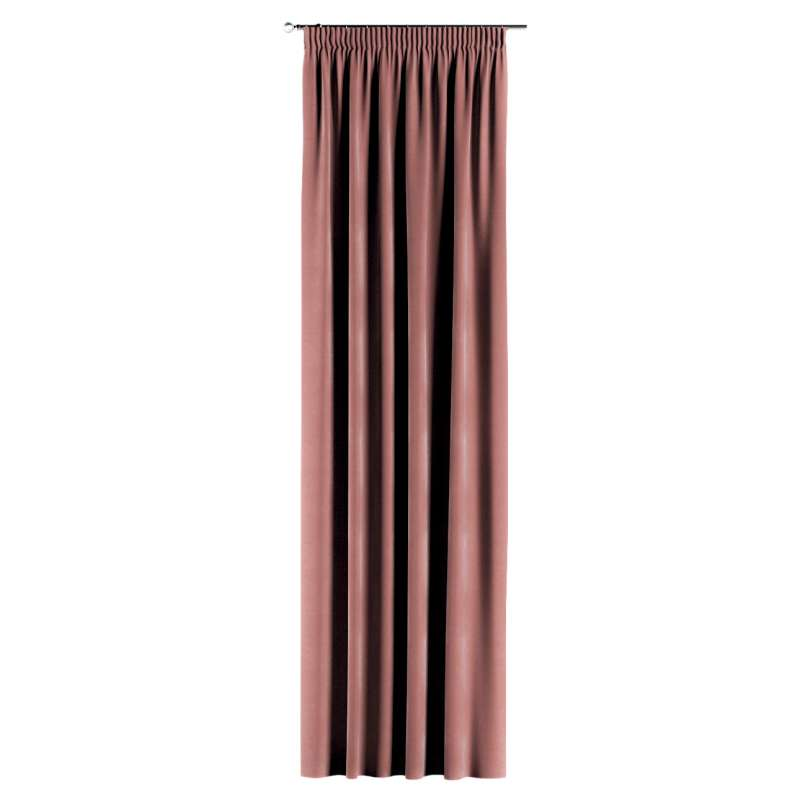 Pencil pleat curtain in collection Velvet, fabric: 704-30