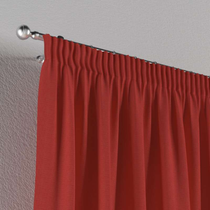 Pencil pleat curtain in collection Jupiter, fabric: 127-15