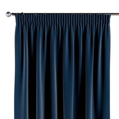 Vorhang mit Kräuselband 1 Stck. 704-29 dunkelblau Kollektion Posh Velvet