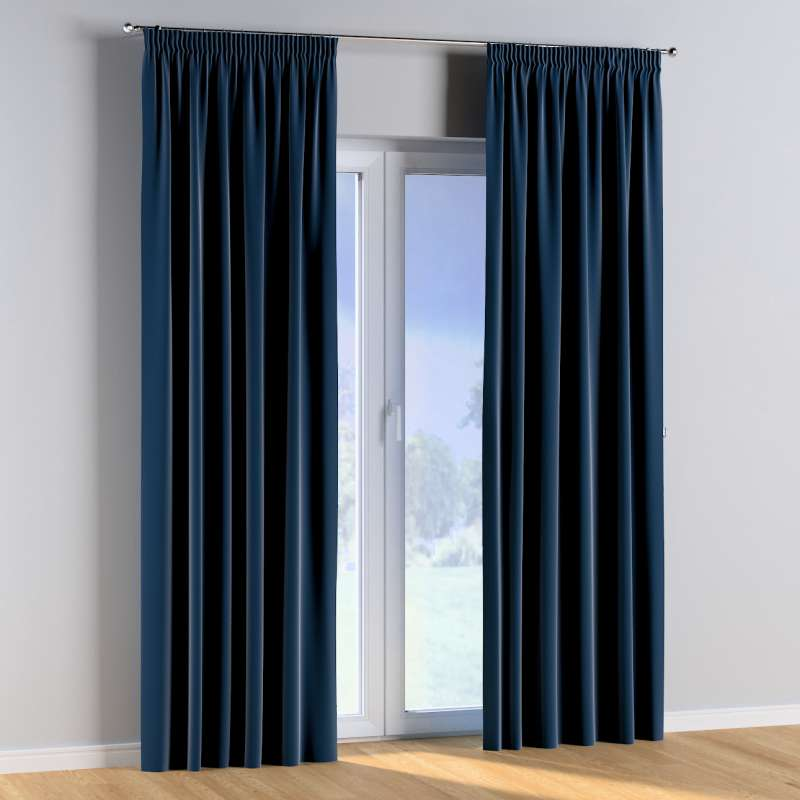 Pencil pleat curtains in collection Posh Velvet, fabric: 704-29
