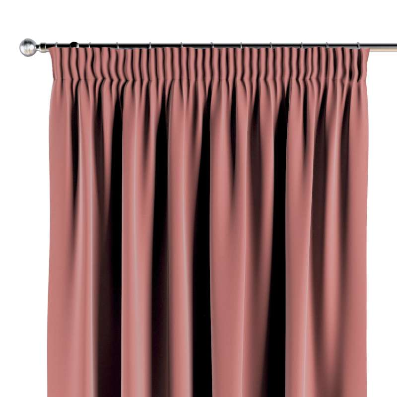 Pencil pleat curtains in collection Posh Velvet, fabric: 704-30