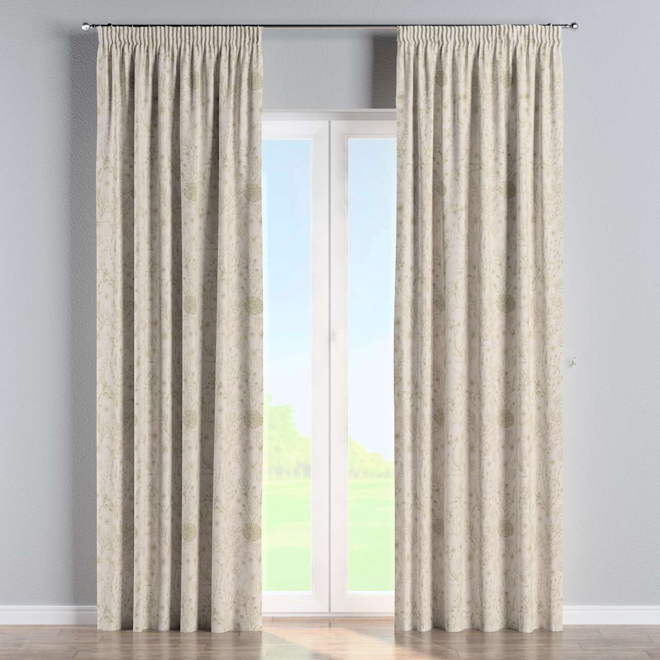 Pencil pleat curtains in collection Nordic, fabric: 142-92