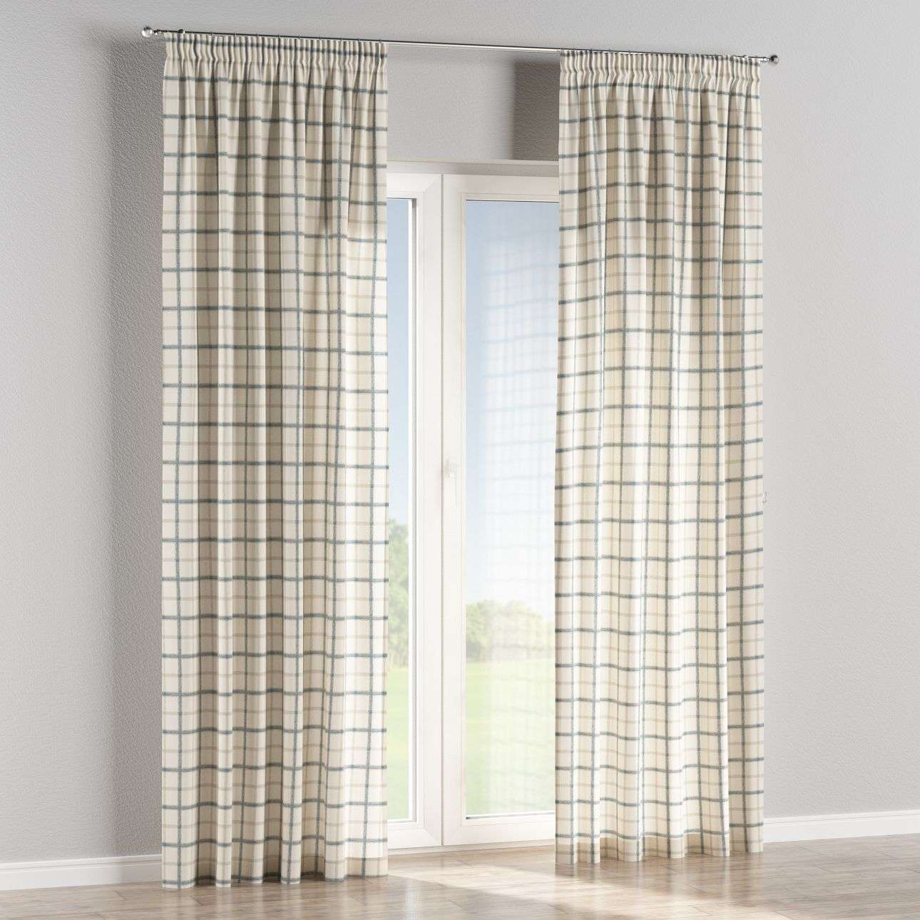 Pencil pleat curtains 130 × 260 cm (51 × 102 inch) in collection Avinon, fabric: 131-66