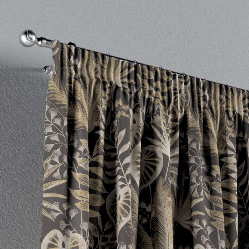 Pencil pleat curtain in collection Tropical Island, fabric: 142-94