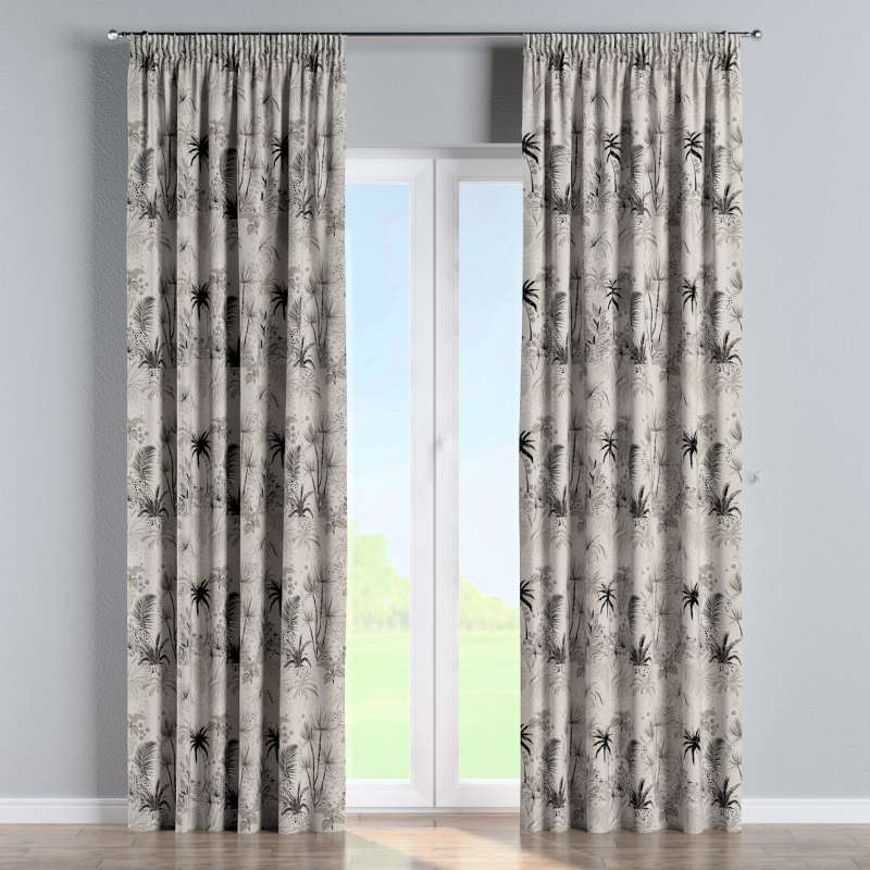 Pencil pleat curtains in collection Nordic, fabric: 142-97