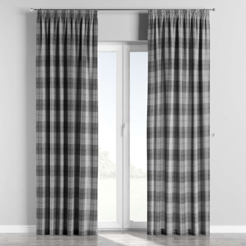 Pencil pleat curtain in collection Edinburgh, fabric: 115-75