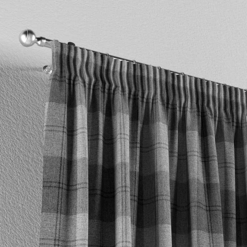 Gardin med rynkband 1 längd i kollektionen Edinburgh, Tyg: 115-75
