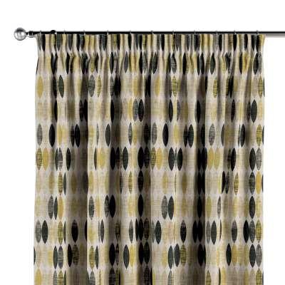 Vorhang mit Kräuselband 142-99 schwarz-beige-gelb Kollektion Modern