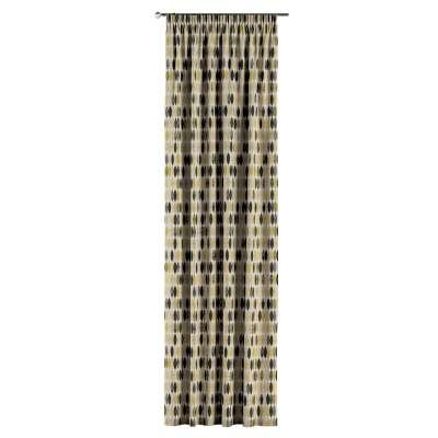 Gardin med rynkband 1 längd i kollektionen Modern, Tyg: 142-99