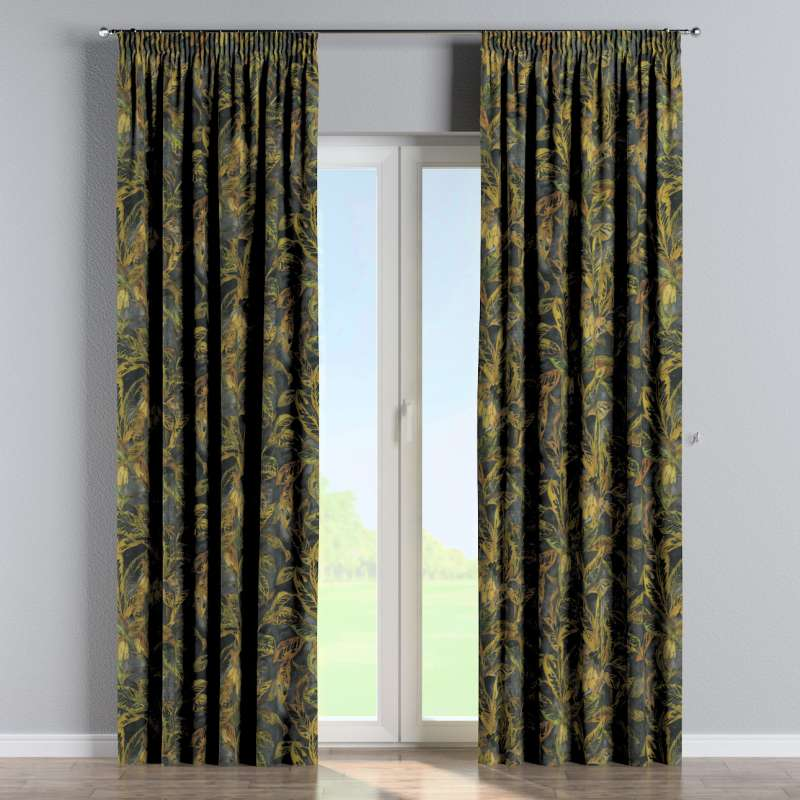 Pencil pleat curtain in collection Abigail, fabric: 143-01