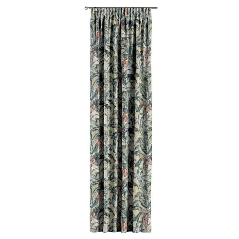 Gardin med rynkband 1 längd i kollektionen Abigail, Tyg: 143-08
