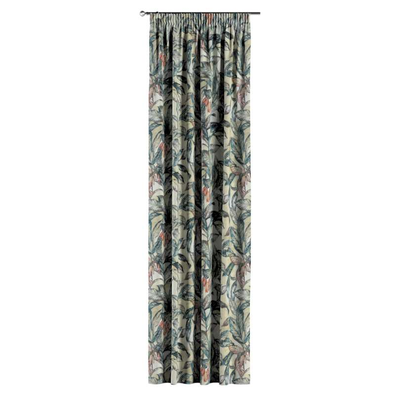 Pencil pleat curtain in collection Abigail, fabric: 143-08