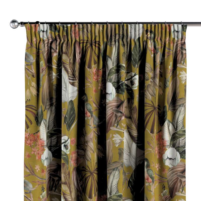Pencil pleat curtain in collection Abigail, fabric: 143-09