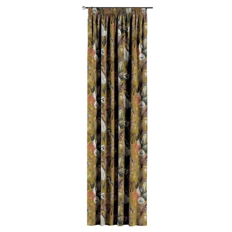 Gardin med rynkband 1 längd i kollektionen Abigail, Tyg: 143-09