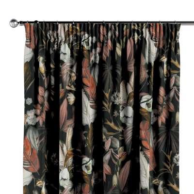 Vorhang mit Kräuselband 143-10 schwarz- braun Kollektion Abigail