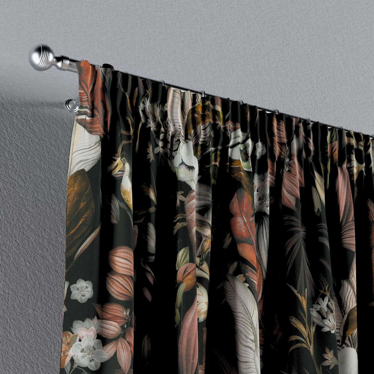 Pencil pleat curtain in collection Abigail, fabric: 143-10