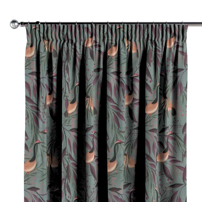 Pencil pleat curtain in collection Abigail, fabric: 143-11